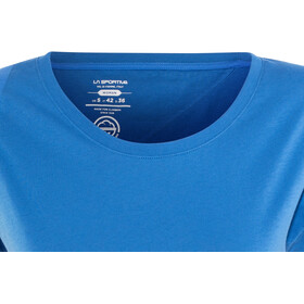 La Sportiva W's Chimney T-Shirt Marine Blue/Cobalt Blue